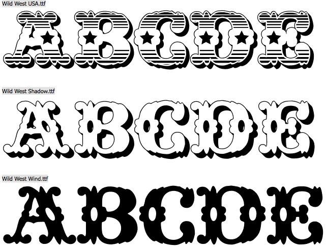 fifteen free ornamental wood type fonts