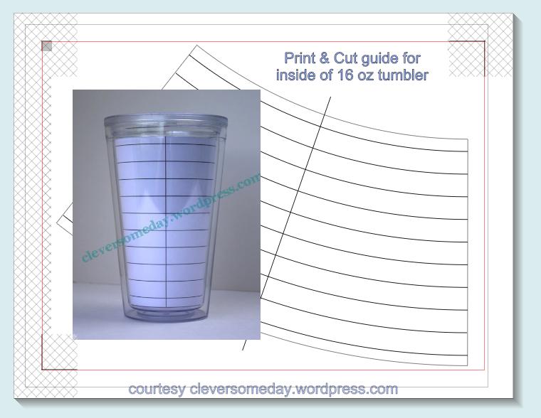 tumbler template freebie clever someday. Black Bedroom Furniture Sets. Home Design Ideas