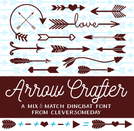 Check out this fun arrow making font by cleversomeday. Free for personal use.
